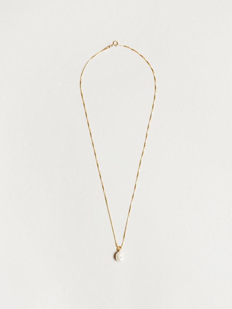 Clementine Pearl Pendant Gold