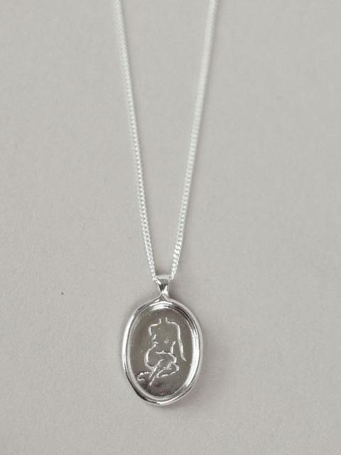 Femme Lady Body Pendant Silver Necklace