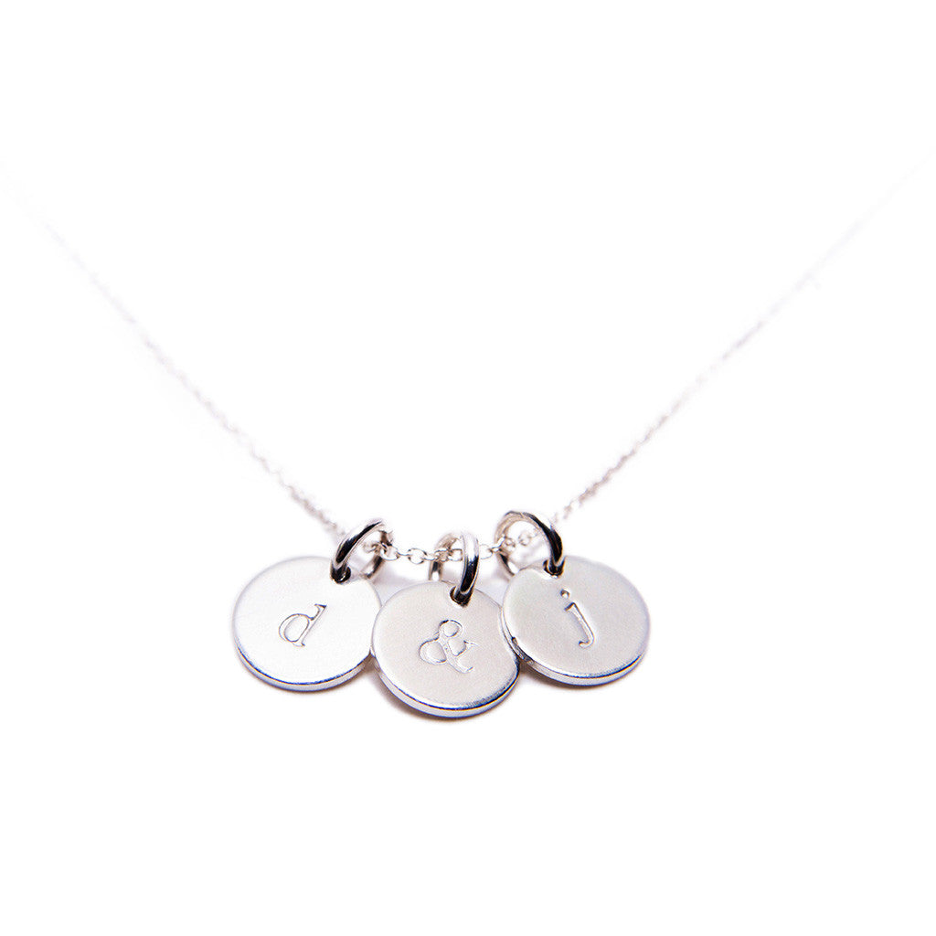 Stamped Charm Silver