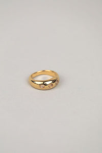 Mabel Silver Gold Ring Size  6