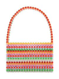Sour Straw Faceted Bead Bag
