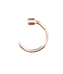 Pistol Earring Rose Gold
