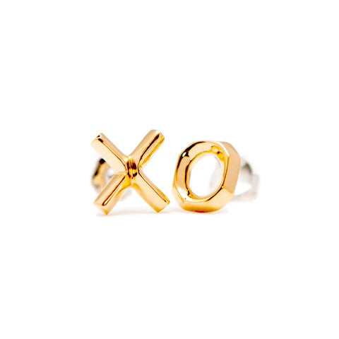 XO Earrings Gold