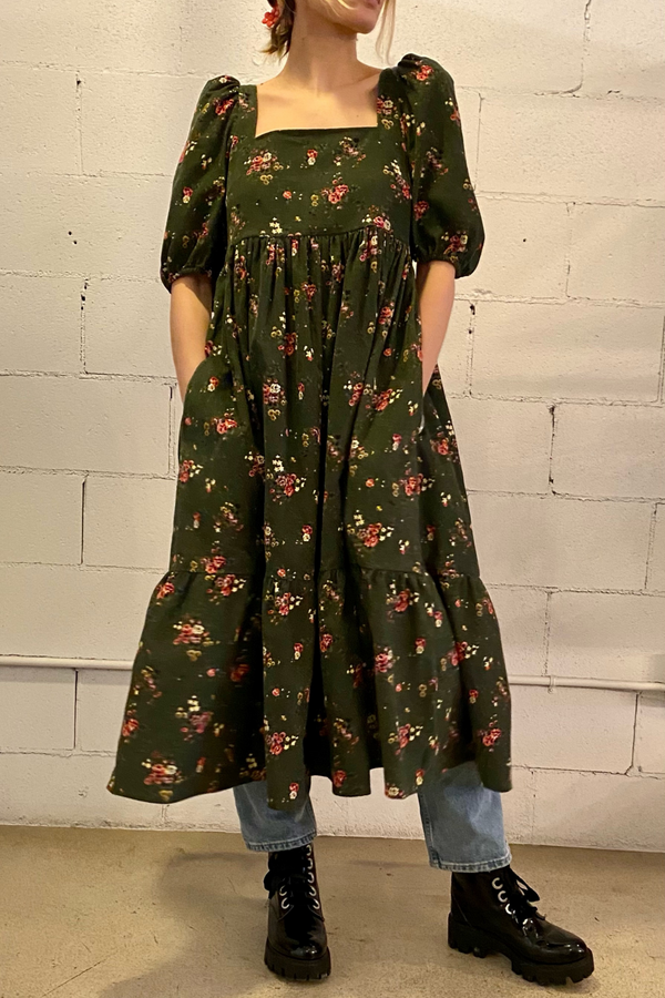 Serenity Now! Welcome the Summer months with this effortless puff sleeve dress by Bronze Age. She pairs perfectly with everything from pearls and heels to sneakers and a sun hat. Made in Canada from 100% lightweight cotton.