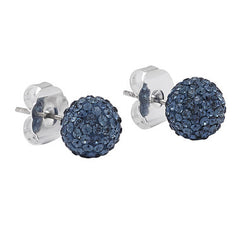Hillberg & Berk Sparkle Ball Earrings