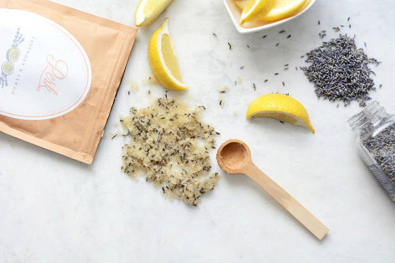 Lavender & Lemon Body Scrub & Bath Soak