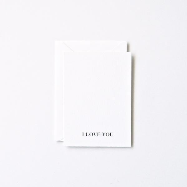 I Love You Card | In Haus Press