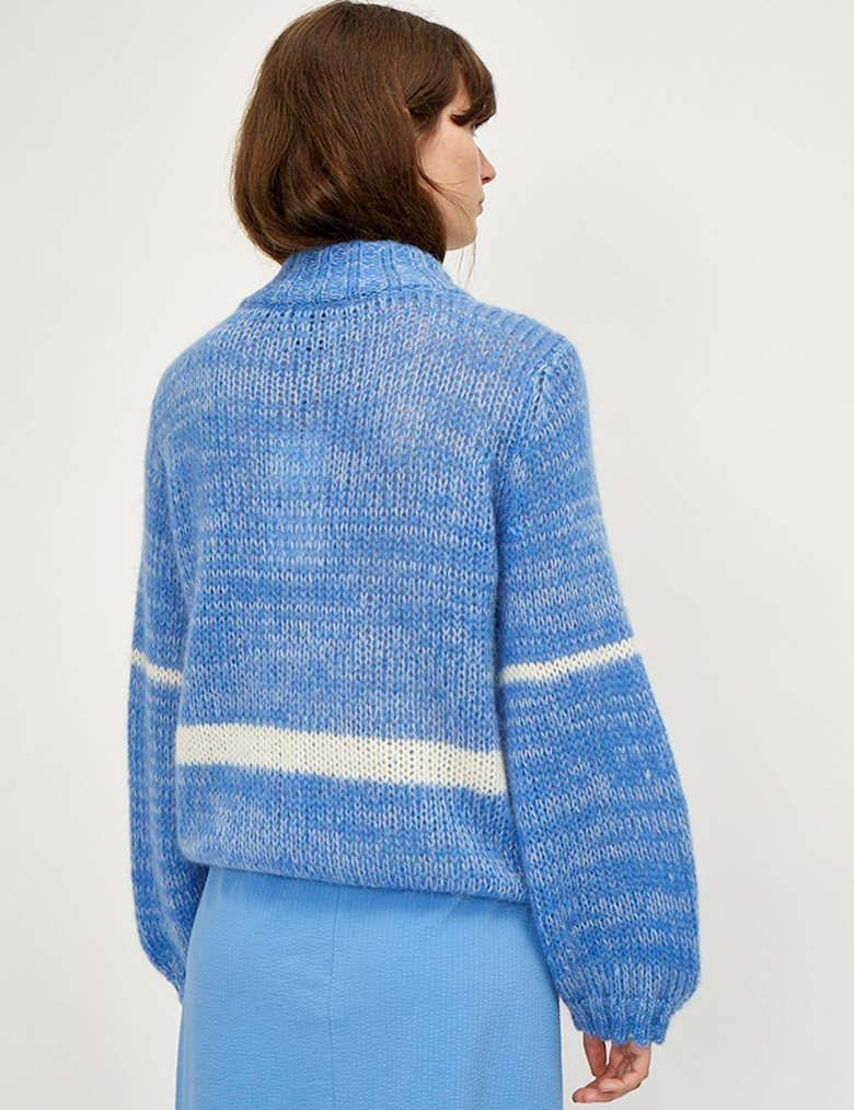 Dolly High Neck Blue Knit