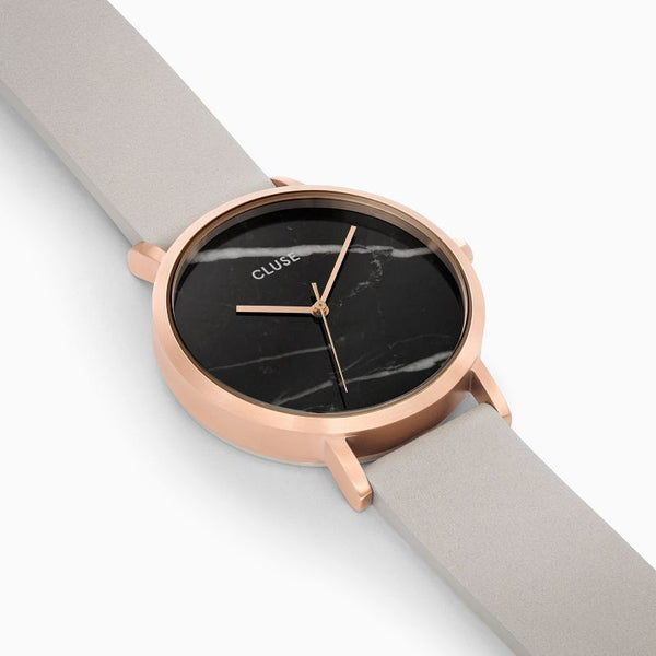 La Roche Rose Gold Black Marble/Grey