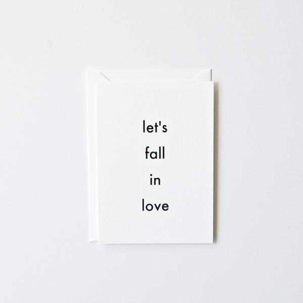 Let's Fall In Love Card | In Haus Press