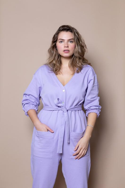 The Jogger Jumpsuit Lilac