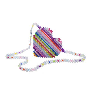 Merry Heart Faceted Bead Bag