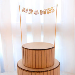 Mr & Mrs Gold Cake Banner