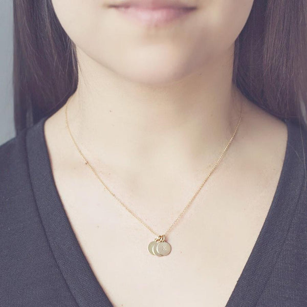 Perfect as a thoughtful and customizable gift is our 14k gold fill chain necklace. This chain is the cutest way to wear something personal! Layer is up with our 14k initial charms. Designed by Muizee.