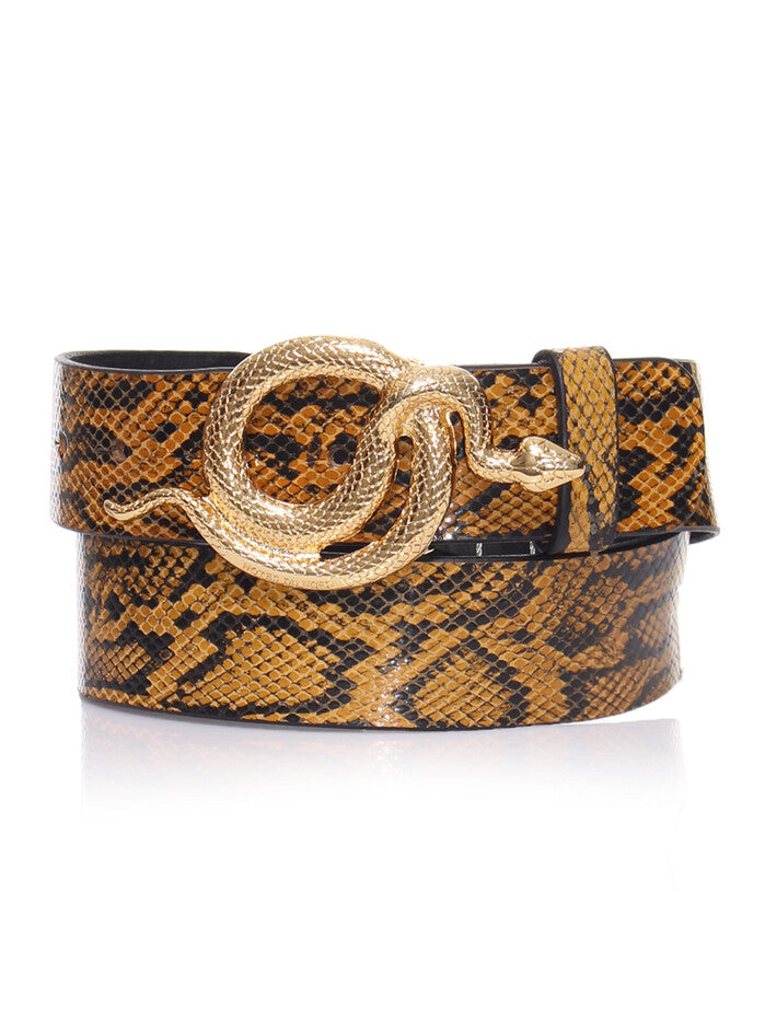 Milo Snake Leather Belt | Notes Du Nord