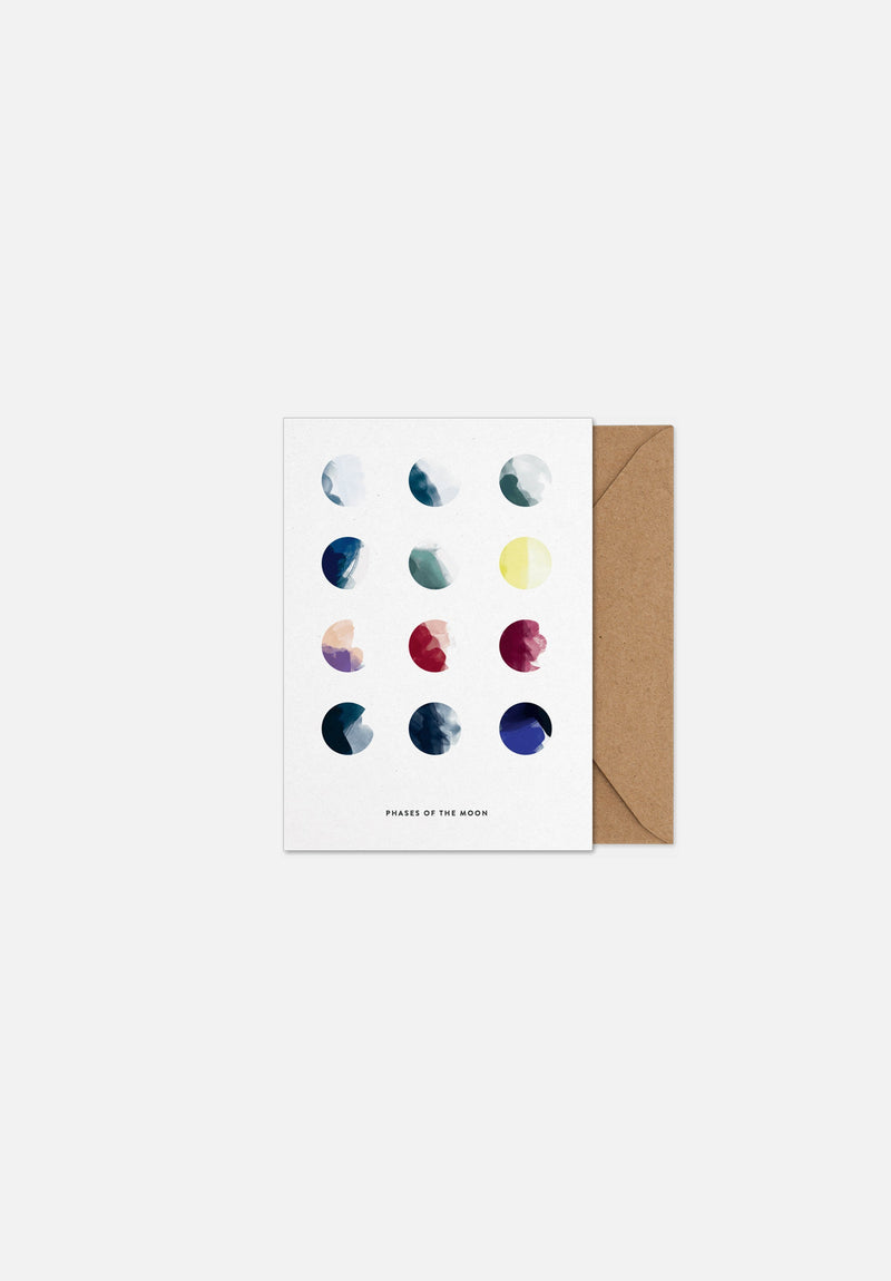 Moon Phases Greeting Card | Moebe