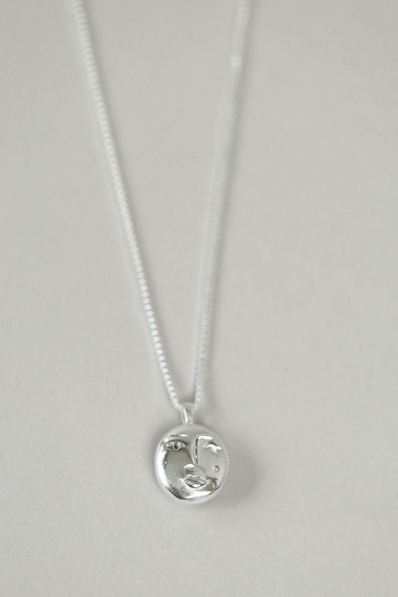Introducing the Evelyn Pendant Necklace designed by Wolf Circus. Featuring a sterling silver pendant made from 100% recycled material on a sterling silver chain. This is the ideal silver necklace to add to your layering collection. An heirloom piece to gift your favourite lover this holiday season.
