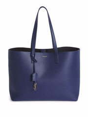 SHOPPING SAINT LAURENT BAG IN ROYAL BLUE LEATHER, $1295.00