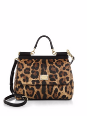 Dolce & Gabbana Medium Miss Sicily Leopard-Print Top-Handle Satchel, $1975.00