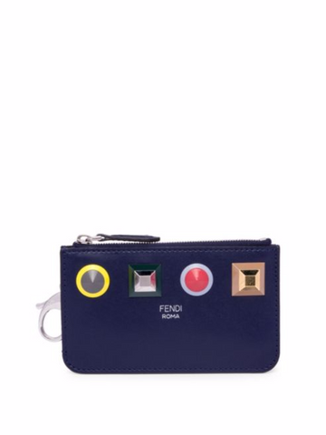 Fendi Large Rainbow Studded Leather Key Case, $465.00