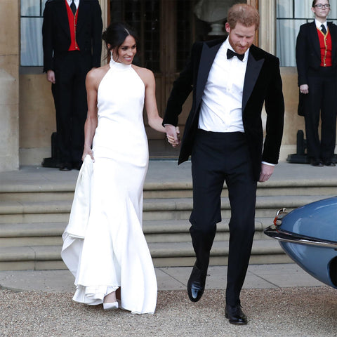 Meghan Markle in custom made Stella McCartney wedding reception gown