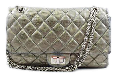Chanel Metallic Green 2.55 Reissue Double Flap Bag