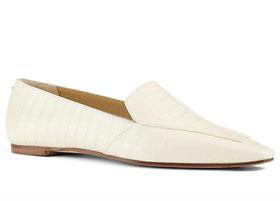 Aeyde Cream Aurora Croc-embossed Leather Loafers Size 36 (NWT)
