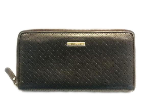 Bally Brown Zippy Leather Wallet