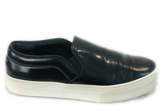 Celine Black Glossy Leather Slip-On Sneakers Size 39