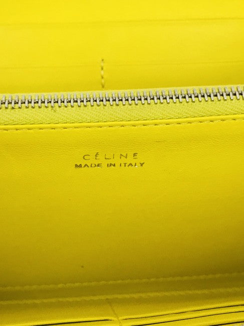 Celine Taupe Lambskin Leather Large Zipped Multifunction Wallet