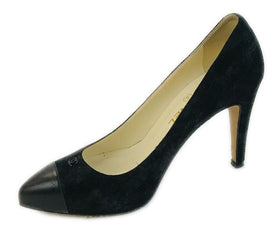 Chanel Black Suede Pumps Size 37