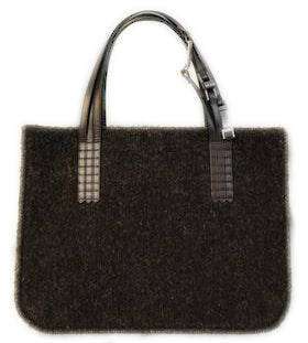Chanel Shopping Brown Wool Tote