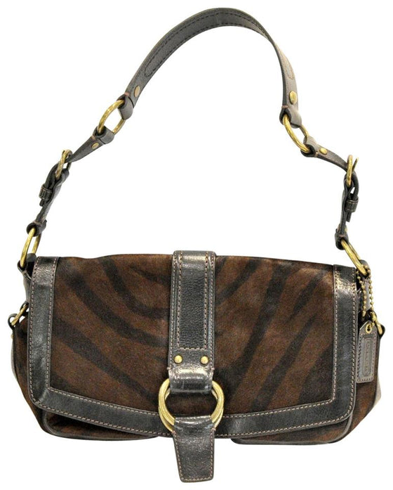 Coach Legacy Hair Brown Pony Fur Shoulder Bag