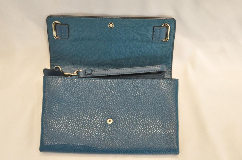 Coach Swagger Blue Leather Wristlet (NWT)