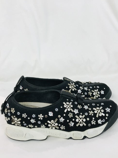 Dior Black Techno Mesh Sneakers Size 35