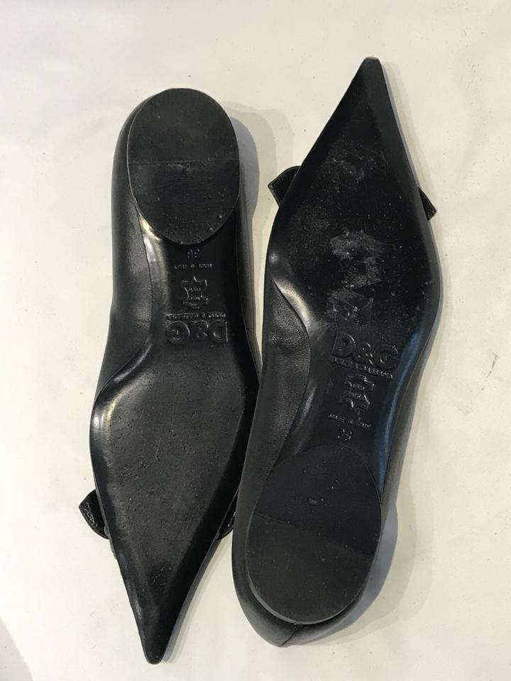 Dolce & Gabbana Black Pointed Ballet Flats Size 36
