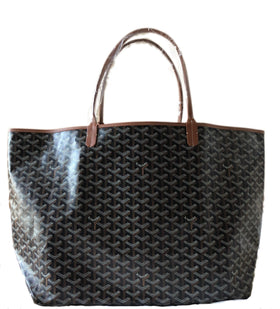 Goyard St. Louis Black with Tan Trim GM Tote (NWT)
