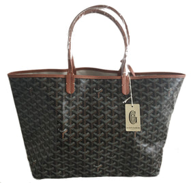 Goyard St. Louis Black with Tan Trim PM (NWT)