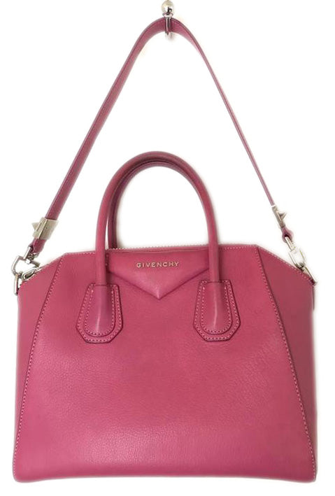 Givenchy Sugar Goatskin Small Antigona Fuchsia Leather Tote