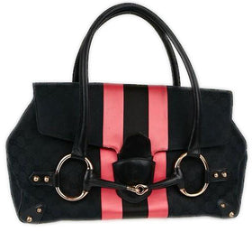 Gucci Monogram Horsebit Web Flap Bag