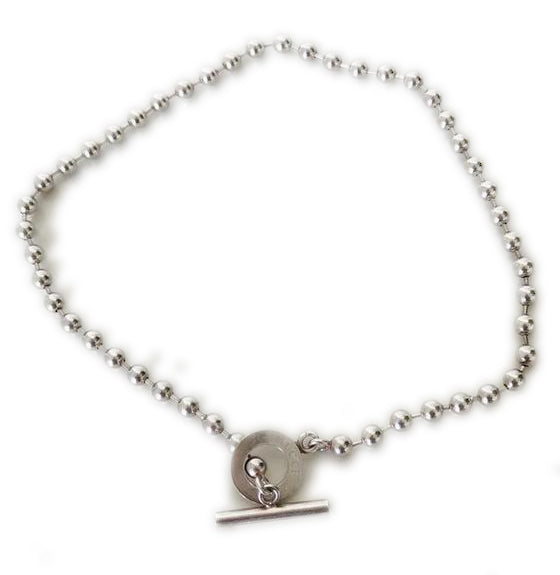 Gucci Silver Ball Toggle Bracelet Necklace