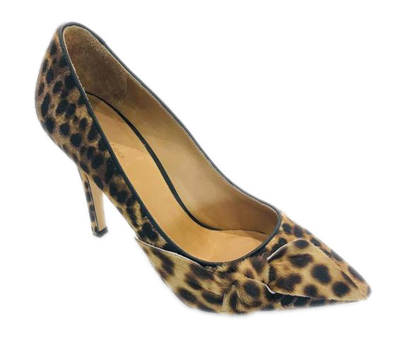 Isabel Marant Brown Poppy Print Ponyskin Pumps Size 39