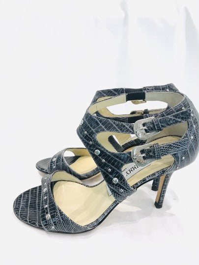 Jimmy Choo Grey Cage Studded Sandals Size 35.5