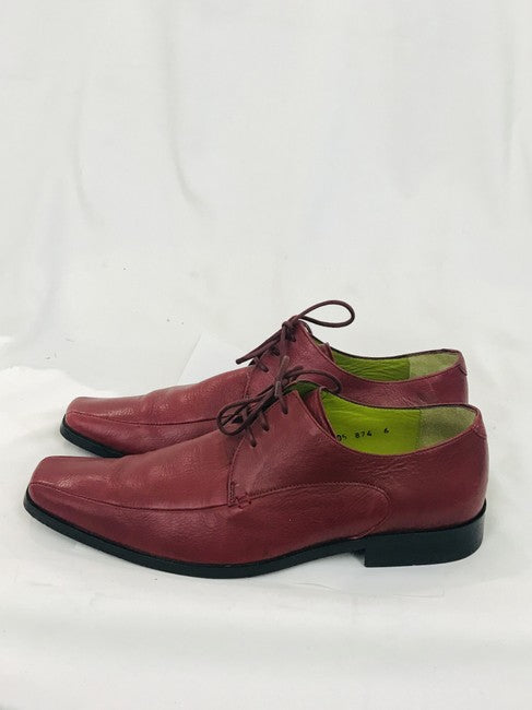 John Fluevog Men's Burgundy Red Lace Up Oxford Formal Shoes Size 6