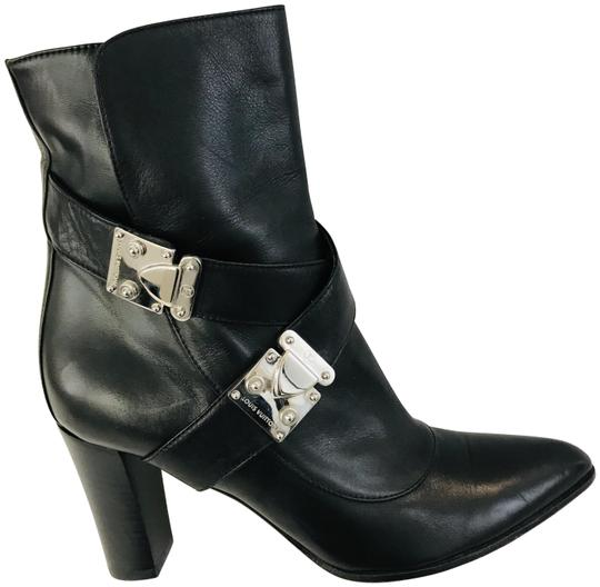 Louis Vuitton Black Buckle Detail Ankle Boots/Booties Size 35