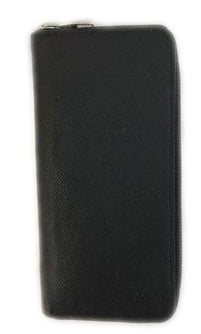 Louis Vuitton Black Zippy Taiga Vertical Wallet