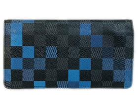 Louis Vuitton Blue Brazza Damier Graphite Pixel Wallet