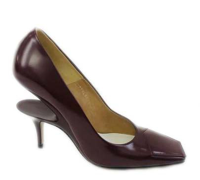 Maison Margiela Burgundy Cut Out Pumps Size 39