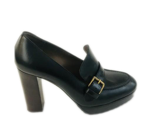 Marni Black Platform Loafer Pumps Size 38