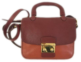 Miu Miu Goatskin Madras Bi-Color Mini Crossbody Bag